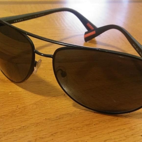 31fdb7efdd PRADA Polarized matte black Aviator Sunglasses. Prada.  M 5a497945a6e3ea75ee02770c. M 5a497945a6e3ea75ee02770c